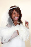 Beautiful black bride Royalty Free Stock Photography