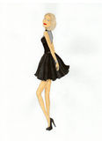 beautiful black dress girl Στοκ Φωτογραφίες