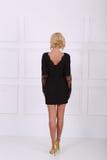 Beautiful black dress Royalty Free Stock Images