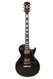 Beautiful black electric guitar Stock Photography