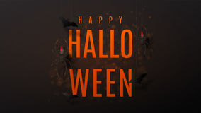 Beautiful black greeting web banner for halloween Royalty Free Stock Photo