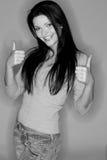 Beautiful black-haired girl Stock Photos