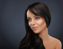 Beautiful black haired woman Stock Photo
