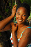 Beautiful black island girl Royalty Free Stock Image