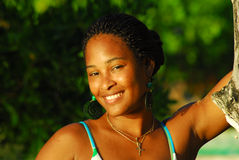 Beautiful black island girl Stock Photography