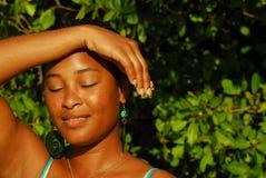 Beautiful black island girl Stock Images