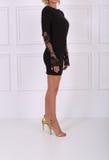 Beautiful black lace dress Stock Photography
