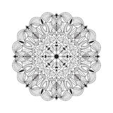 Beautiful black mandala for design element. Stock Images