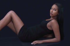 Beautiful black model Stock Photography
