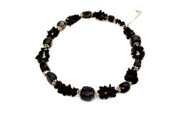 Beautiful black necklace Royalty Free Stock Photography