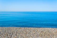 Beautiful Black sea and pebbles Stock Image