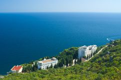 Beautiful Black Sea resort coast Stock Photography
