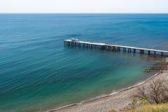 Beautiful Black Sea at spring season Stock Photography