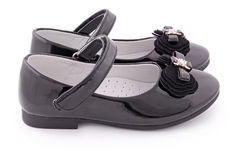 Beautiful black shoes for kids (Clipping path) Stock Photography