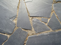 Beautiful black slate floor Stock Photo