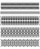 Beautiful black trim collection Royalty Free Stock Image