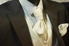 Beautiful black wedding tuxedo royalty free stock photography
