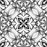 Beautiful black and white floral seamless pattern. Royalty Free Stock Photography