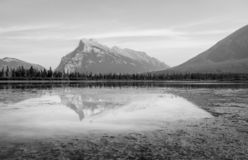 Vermillion Lakes in Banff B.C. Canada royalty free stock photography