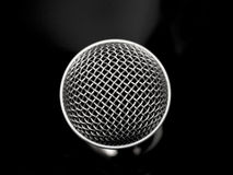 Beautiful black and white microphone close up Royalty Free Stock Photos