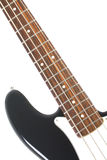 Beautiful black and white precision bass guitar Royalty Free Stock Photo