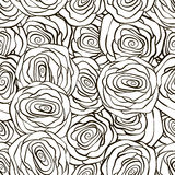 Beautiful black and white seamless pattern in Stock Photos