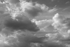 Beautiful black and white sky with clouds in clear day. Stock Image