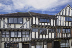 Beautiful black and white tudor house Stock Image