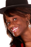 Beautiful black woman. Beautiful african woman with nice smile Royalty Free Stock Photo