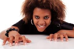 Beautiful black  woman Stock Images