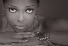 Beautiful Black Woman. Beautiful Image of a beautiful Black Model Royalty Free Stock Image