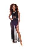 Beautiful black woman in dress. Stock Photos