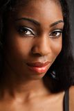 Beautiful black woman headshot smile Royalty Free Stock Images