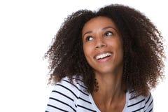 Beautiful black woman laughing Stock Image