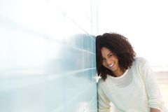 Beautiful black woman laughing Royalty Free Stock Photos