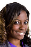 Beautiful Black Woman Nice Smile Royalty Free Stock Image