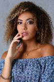 Beautiful Black Woman Portrait. Stock Photos