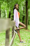 Beautiful black woman posing in nature Royalty Free Stock Photo