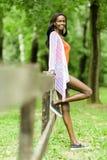 Beautiful black woman posing in nature Royalty Free Stock Photo