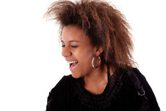 Beautiful black  woman, smiling Stock Image