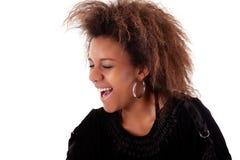 Beautiful black  woman, smiling Stock Image