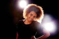 Beautiful black  woman, smiling Stock Photography