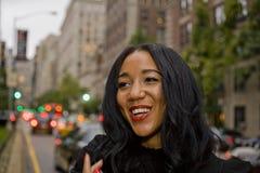 Beautiful Black Woman Smiling Royalty Free Stock Photography