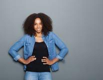 Beautiful black woman smiling Stock Photos