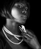 Beautiful black woman Stock Images