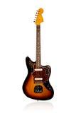Beautiful black-yellow electric guitar Royalty Free Stock Photo