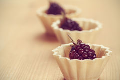 Beautiful blackberries in basket Royalty Free Stock Photos