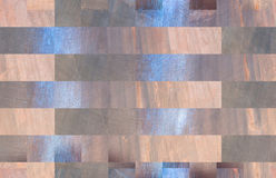 Beautiful blank background of tan and blue rectangles. Horizontal computer generated abstract background image of rectangles in tan and blue and grey colors Royalty Free Stock Photo