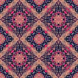 Beautiful blanket with stylized ethnic ornament. Stock Photos
