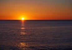 Beautiful blazing sunrise Stock Image